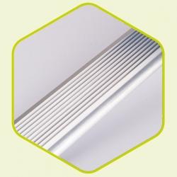 Vloerbekleding - aluminium instapprofiel